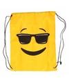 Rugtas Emoticon met zonnebril