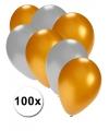 100 stuks ballonnen in goud en zilver